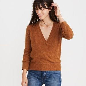 Madewell Wrap-Front Pullover Sweater